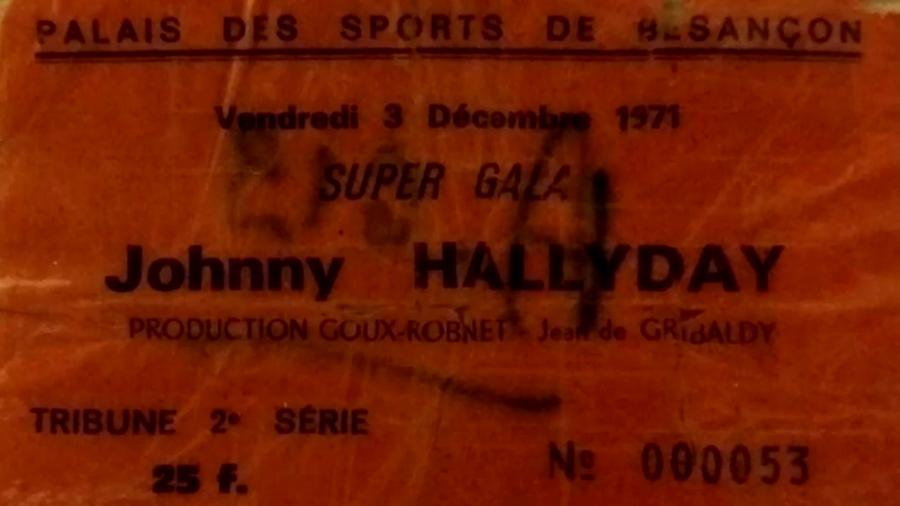 LES CONCERTS DE JOHNNY 'BESANCON 1971' Captu505