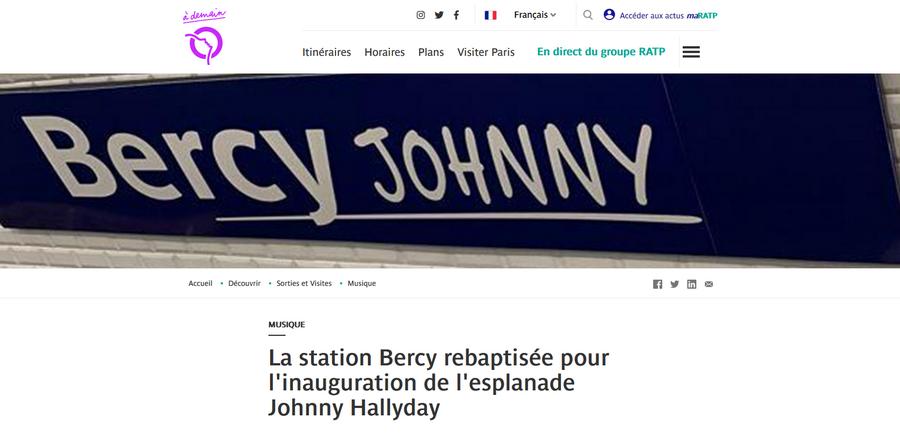 LA RATP rend hommage à Johnny Captu616