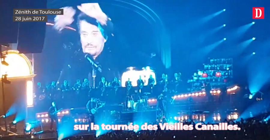 LES CONCERTS DE JOHNNY 'LES VIEILLES CANAILLES - 'TOULOUSE 2017' Captu709