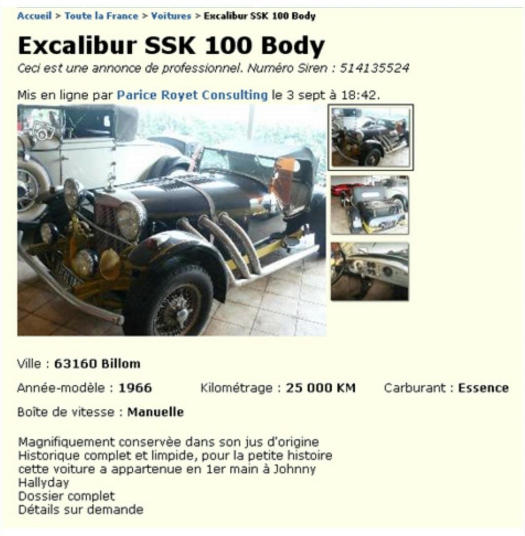 EXCALIBUR SSK 100 DE JOHNNY HALLYDAY ( 1966 ) Excali68