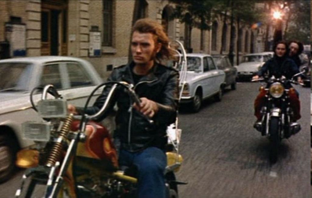 CHOPPER ( MOTEUR HARLEY SHOVELHEAD ) DE JOHNNY HALLYDAY ( 1971 ) File1410