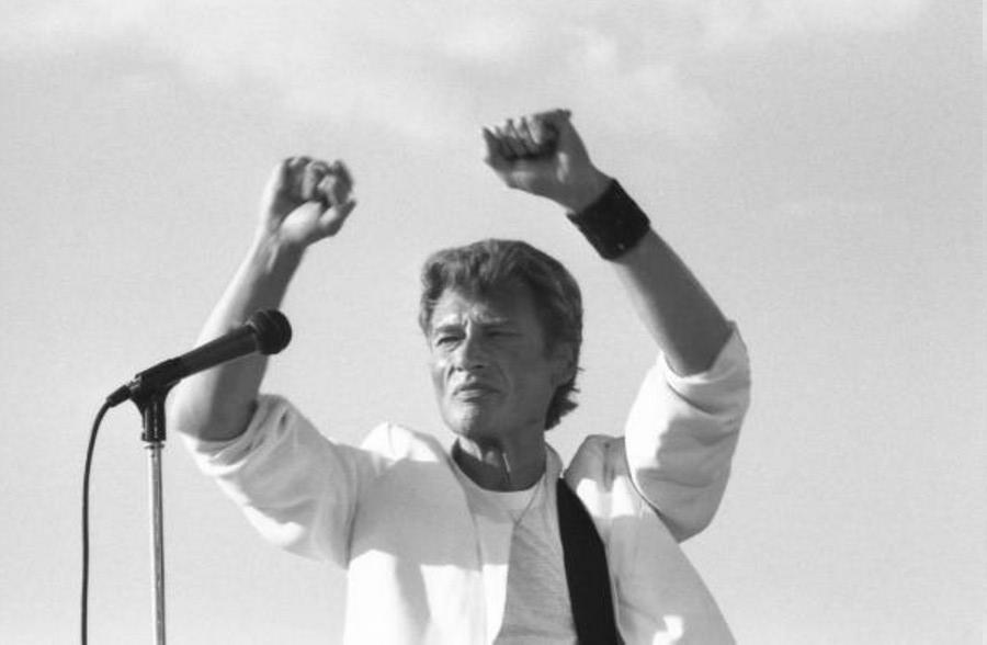 LES CONCERTS DE JOHNNY 'FETE DE L'HUMANITE, LA COURNEUVE 1985' Getty166