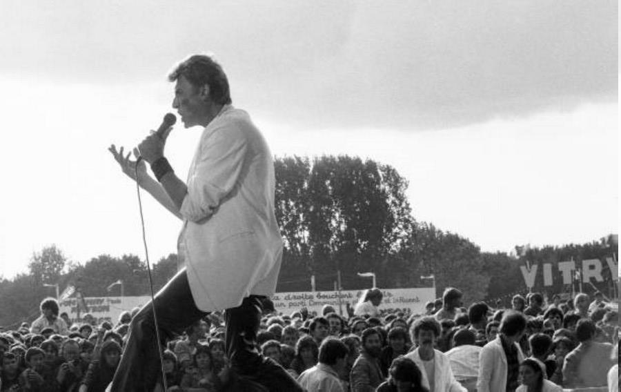 LES CONCERTS DE JOHNNY 'FETE DE L'HUMANITE, LA COURNEUVE 1985' Getty168