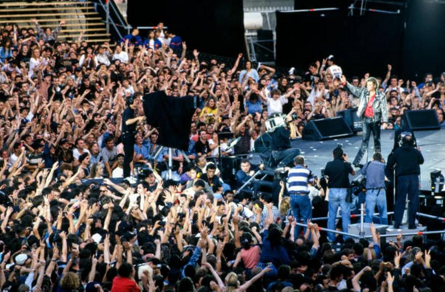 LES CONCERTS DE JOHNNY 'PARC DES PRINCES, PARIS 1993' Getty305