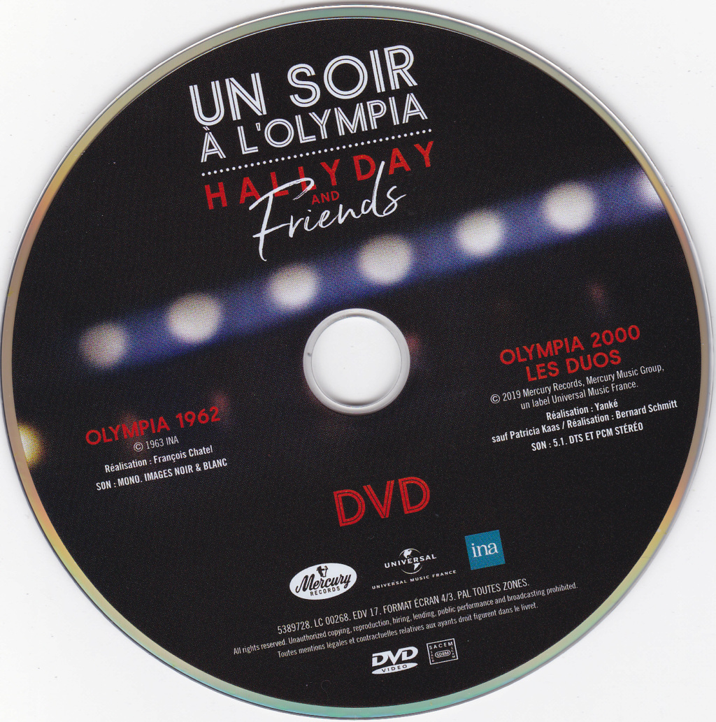 UN SOIR A L 'OLYMPIA - HALLYDAY AND FRIENDS ( 2 CD + 1 DVD ) Img_0075