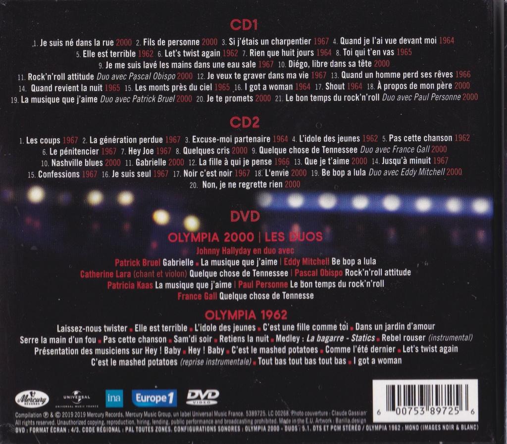 UN SOIR A L 'OLYMPIA - HALLYDAY AND FRIENDS ( 2 CD + 1 DVD ) Img_0077