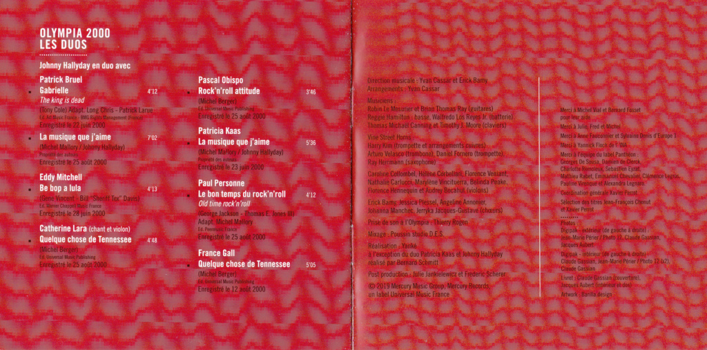 UN SOIR A L 'OLYMPIA - HALLYDAY AND FRIENDS ( 2 CD + 1 DVD ) Img_0082