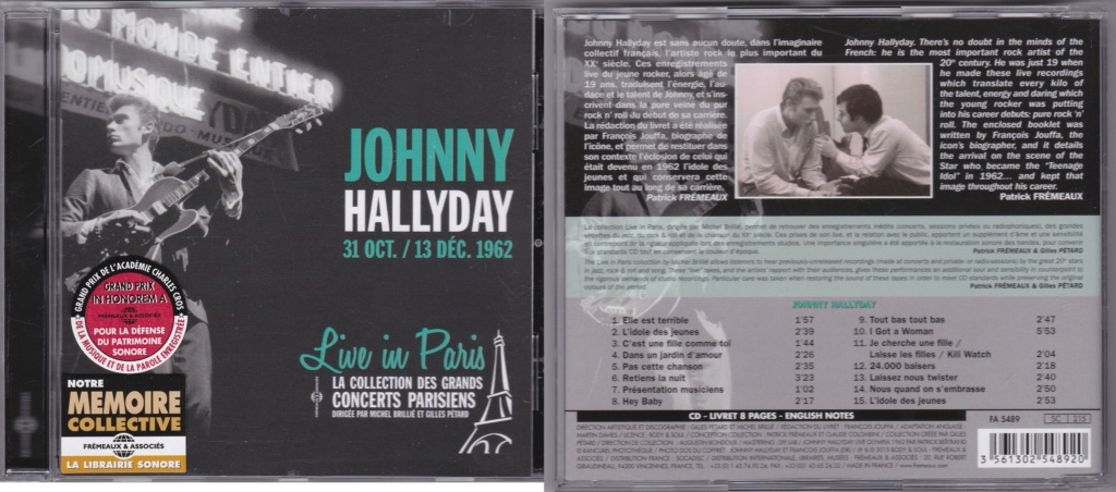 LIVE IN PARIS ( 31 OCTOBRE / 13 DECEMBRE 1962 )( CD )( 2015 ) Img_0124