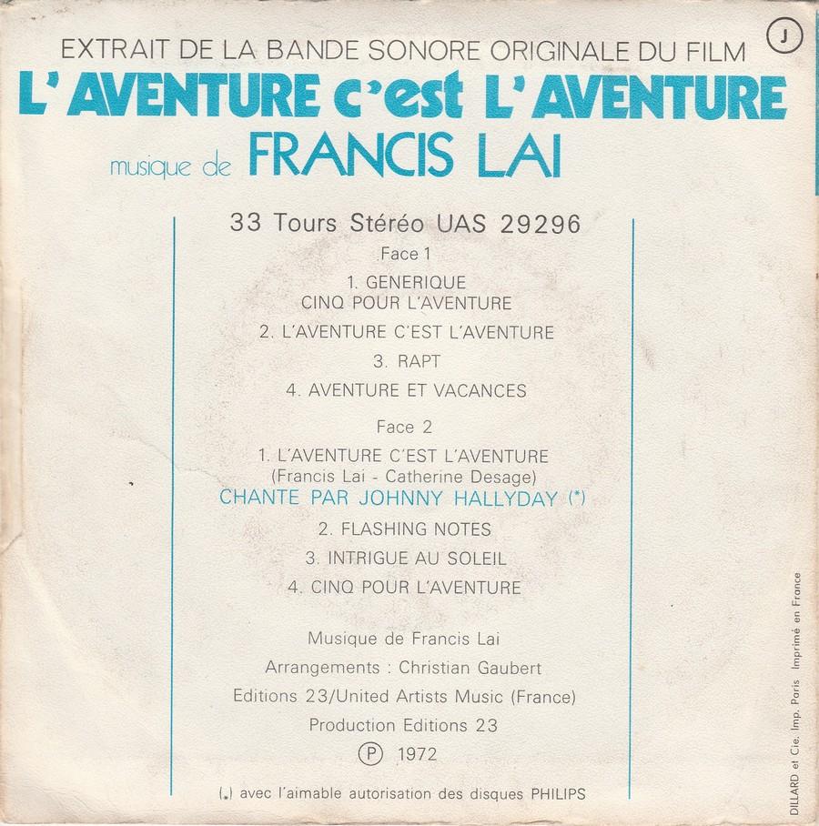 L'AVENTURE C'EST L'AVENTURE ( SP - LP )( TOUTES LES EDITIONS )( 1972-2018 ) Img_2141