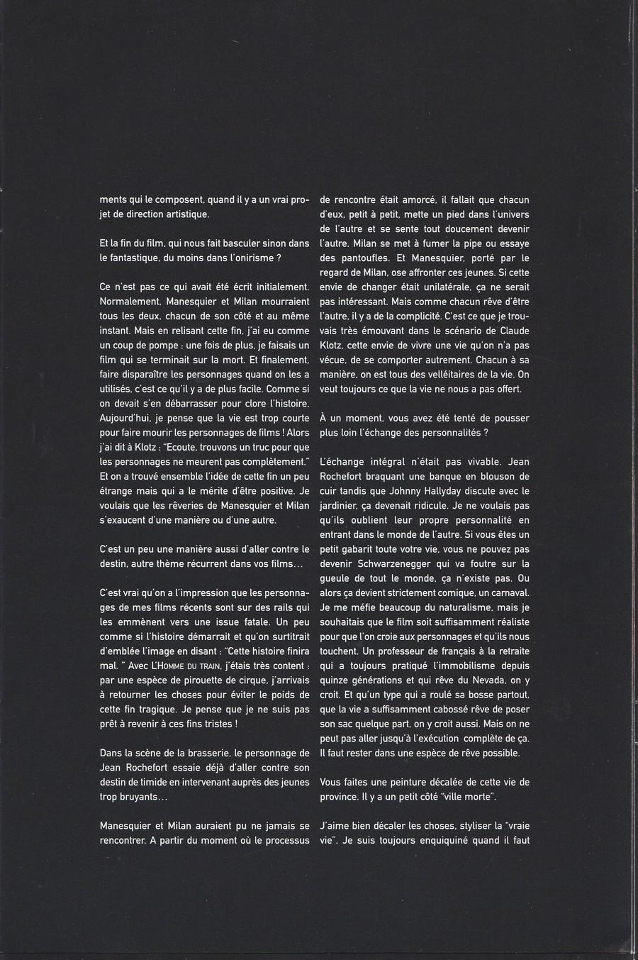 LES FILMS DE JOHNNY 'L'HOMME DU TRAIN' 2002 Img_2742