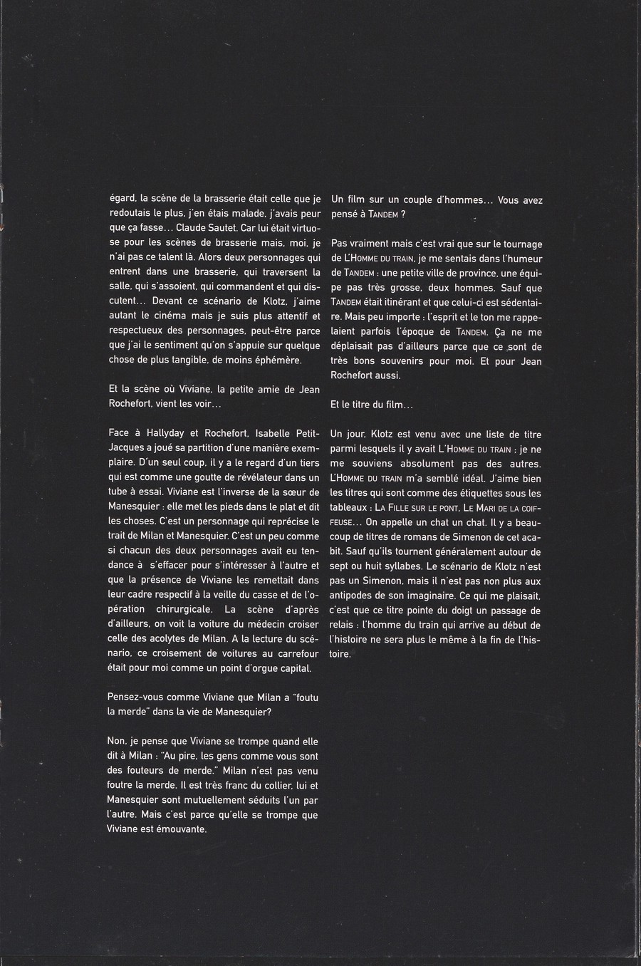 LES FILMS DE JOHNNY 'L'HOMME DU TRAIN' 2002 Img_2747