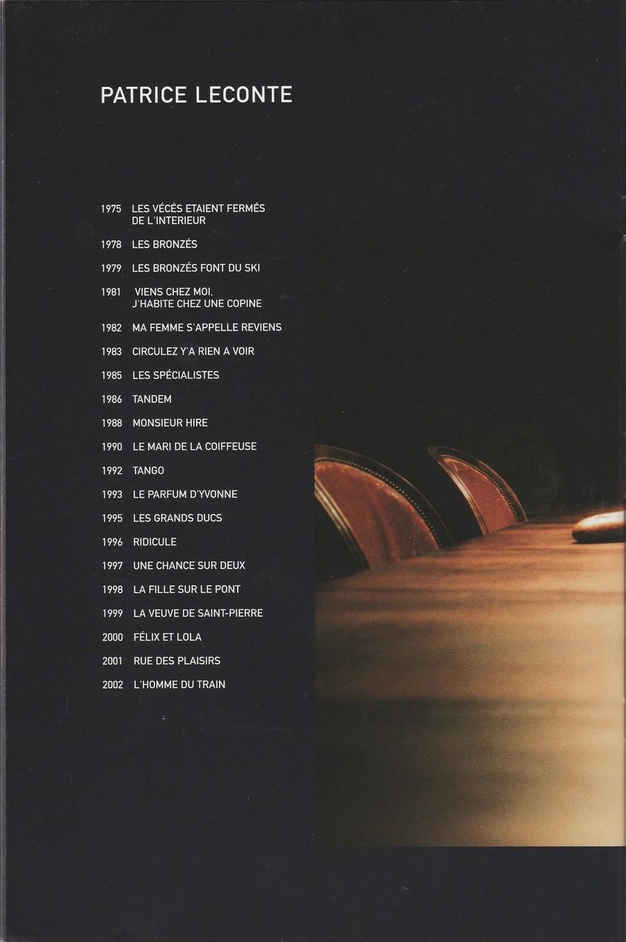 LES FILMS DE JOHNNY 'L'HOMME DU TRAIN' 2002 Img_2751