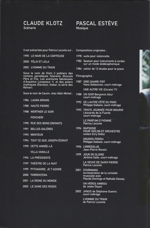 LES FILMS DE JOHNNY 'L'HOMME DU TRAIN' 2002 Img_2754