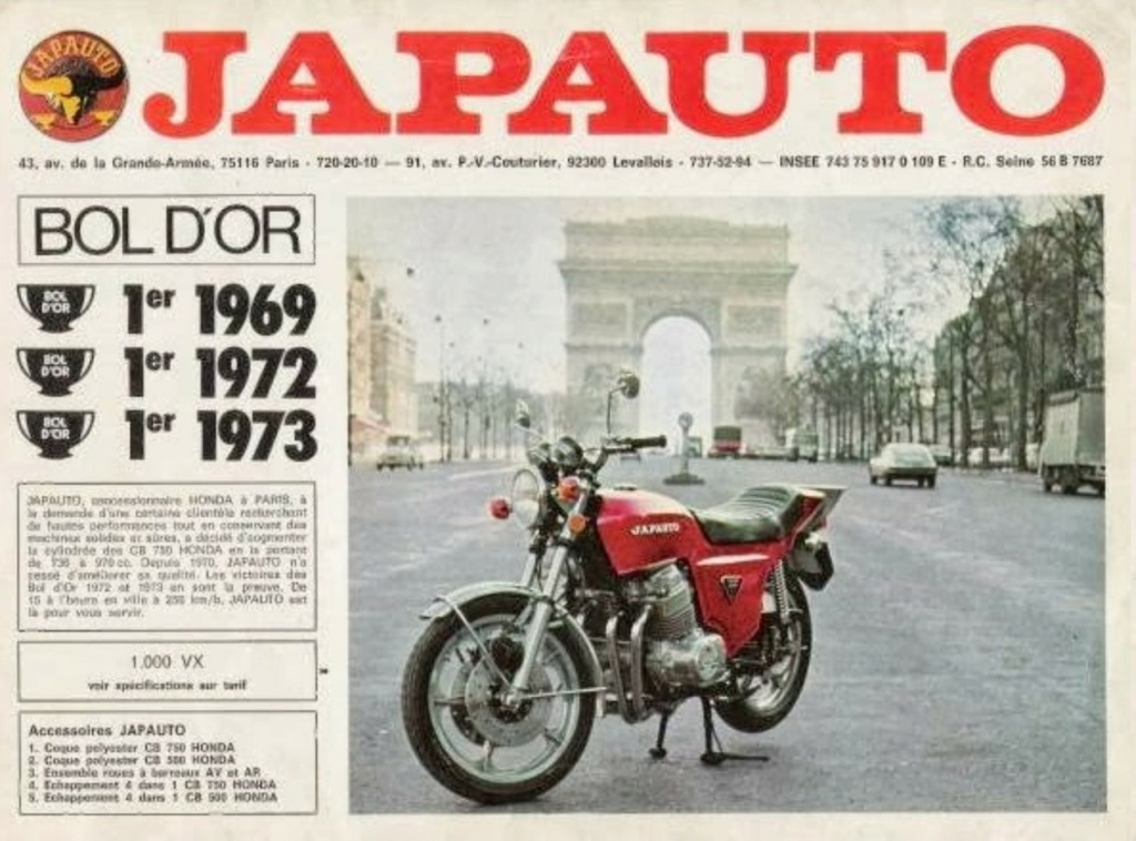 HONDA JAPAUTO CB 950 SS DE JOHNNY HALLYDAY ( 1972 ) Japaut12
