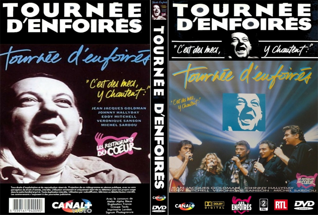 LES CONCERTS DE JOHNNY 'TOURNEE D'ENFOIRES, ZENITH 1989' Jaquet11
