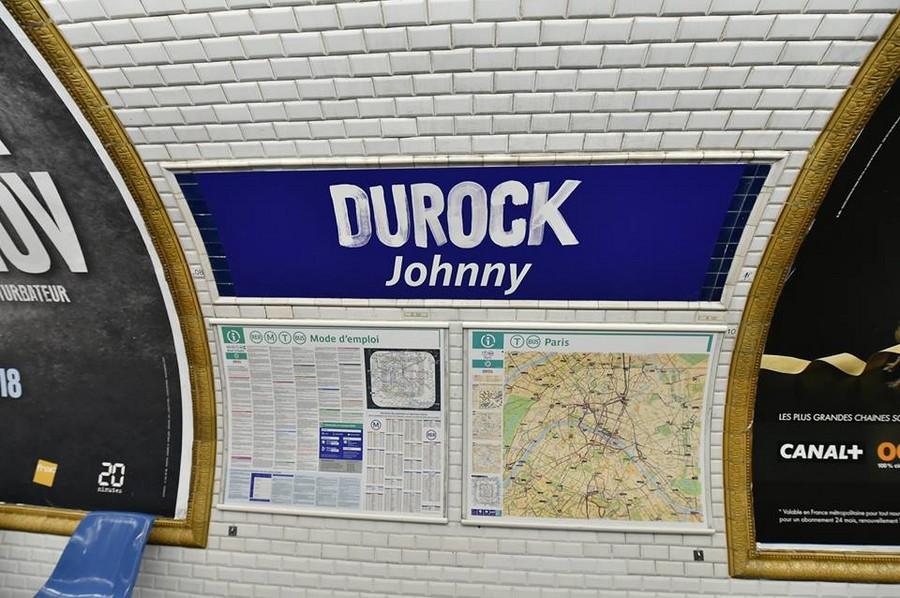 LA RATP rend hommage à Johnny Johnn419