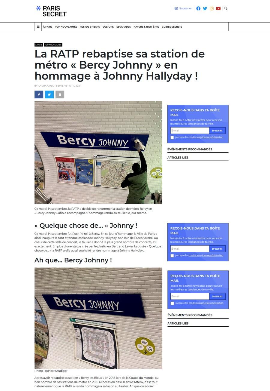 LA RATP rend hommage à Johnny Johnn421