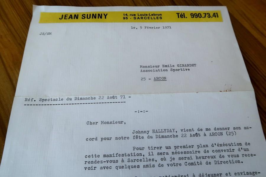 LES CONCERTS DE JOHNNY 'ARCON 1971' La-let10