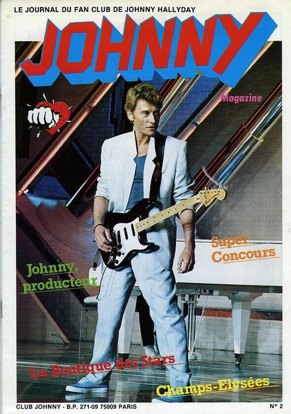 COUVERTURES DES 'JOHNNY MAGAZINE' ( 1985 - 1997 ) N02__111