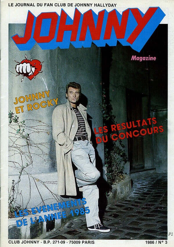COUVERTURES DES 'JOHNNY MAGAZINE' ( 1985 - 1997 ) N03__111