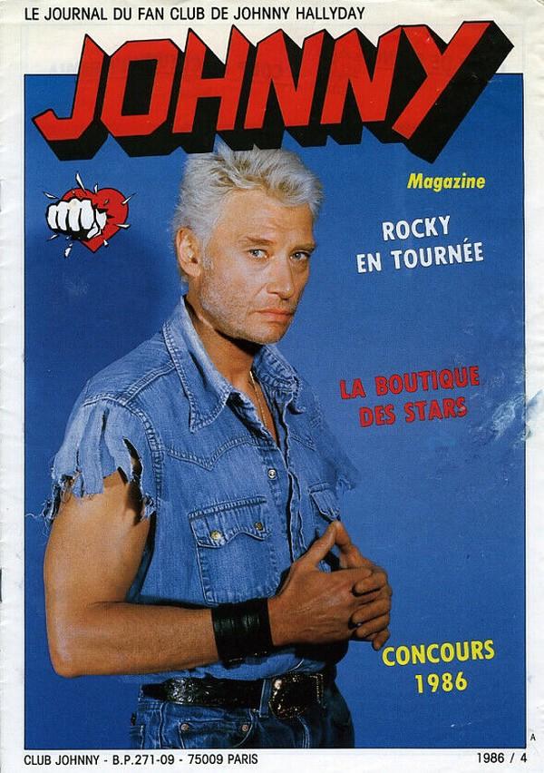 COUVERTURES DES 'JOHNNY MAGAZINE' ( 1985 - 1997 ) N04__111