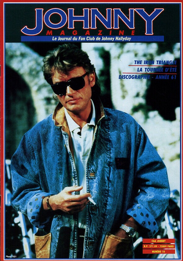 COUVERTURES DES 'JOHNNY MAGAZINE' ( 1985 - 1997 ) N10__10