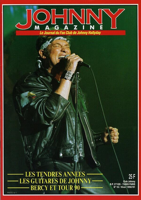 COUVERTURES DES 'JOHNNY MAGAZINE' ( 1985 - 1997 ) N16__h10