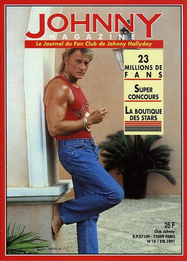 COUVERTURES DES 'JOHNNY MAGAZINE' ( 1985 - 1997 ) N18__e10