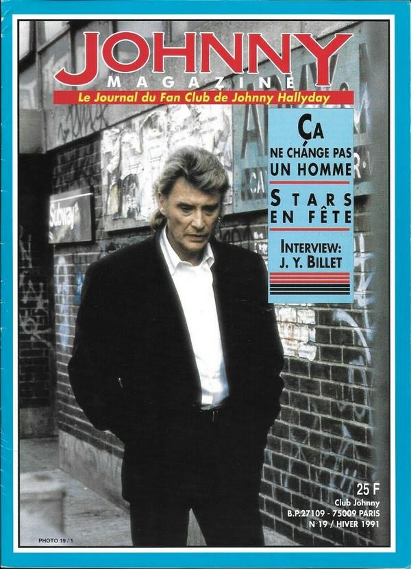 COUVERTURES DES 'JOHNNY MAGAZINE' ( 1985 - 1997 ) N19__h10