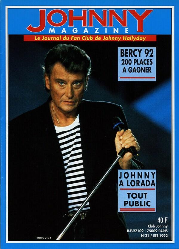 COUVERTURES DES 'JOHNNY MAGAZINE' ( 1985 - 1997 ) N21__e10