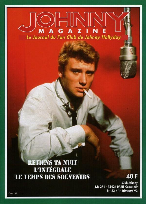 COUVERTURES DES 'JOHNNY MAGAZINE' ( 1985 - 1997 ) N23__110