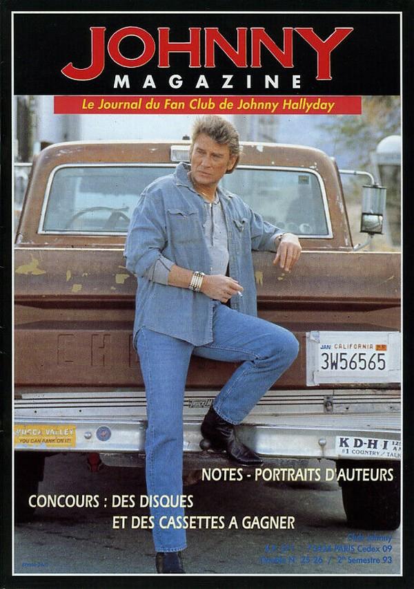 COUVERTURES DES 'JOHNNY MAGAZINE' ( 1985 - 1997 ) N25__210