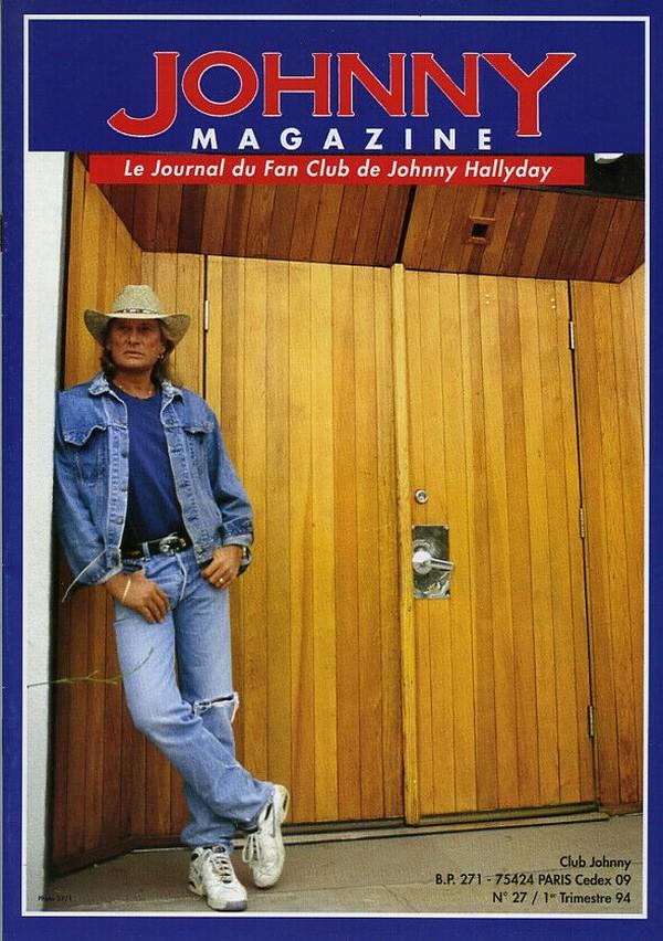 COUVERTURES DES 'JOHNNY MAGAZINE' ( 1985 - 1997 ) N27__110