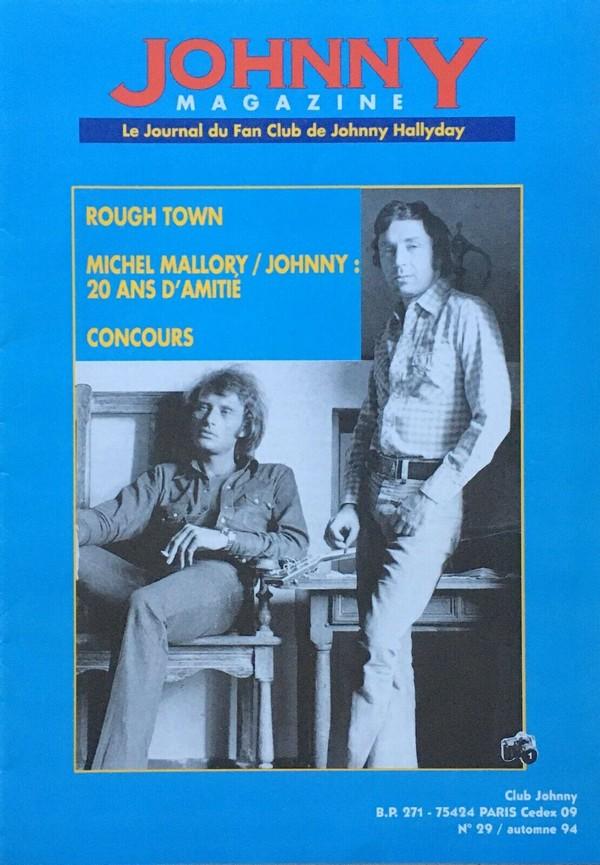 COUVERTURES DES 'JOHNNY MAGAZINE' ( 1985 - 1997 ) N29__a10