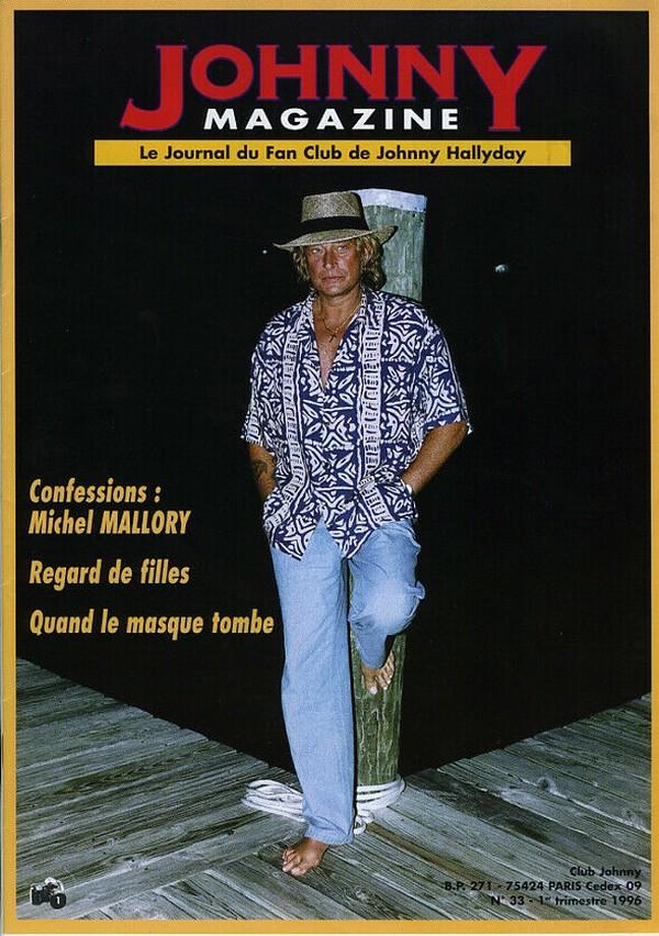 COUVERTURES DES 'JOHNNY MAGAZINE' ( 1985 - 1997 ) N33__110