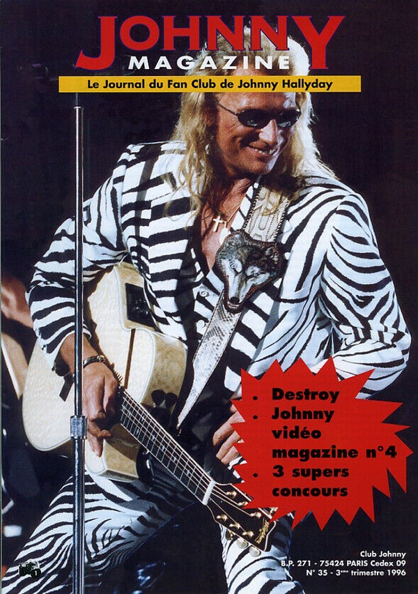 COUVERTURES DES 'JOHNNY MAGAZINE' ( 1985 - 1997 ) N35__310