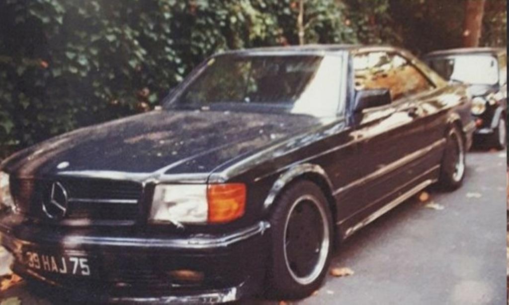 MERCEDES 560 SEC AMG DE JOHNNY HALLYDAY ( 1988 ) Ob_1bd10