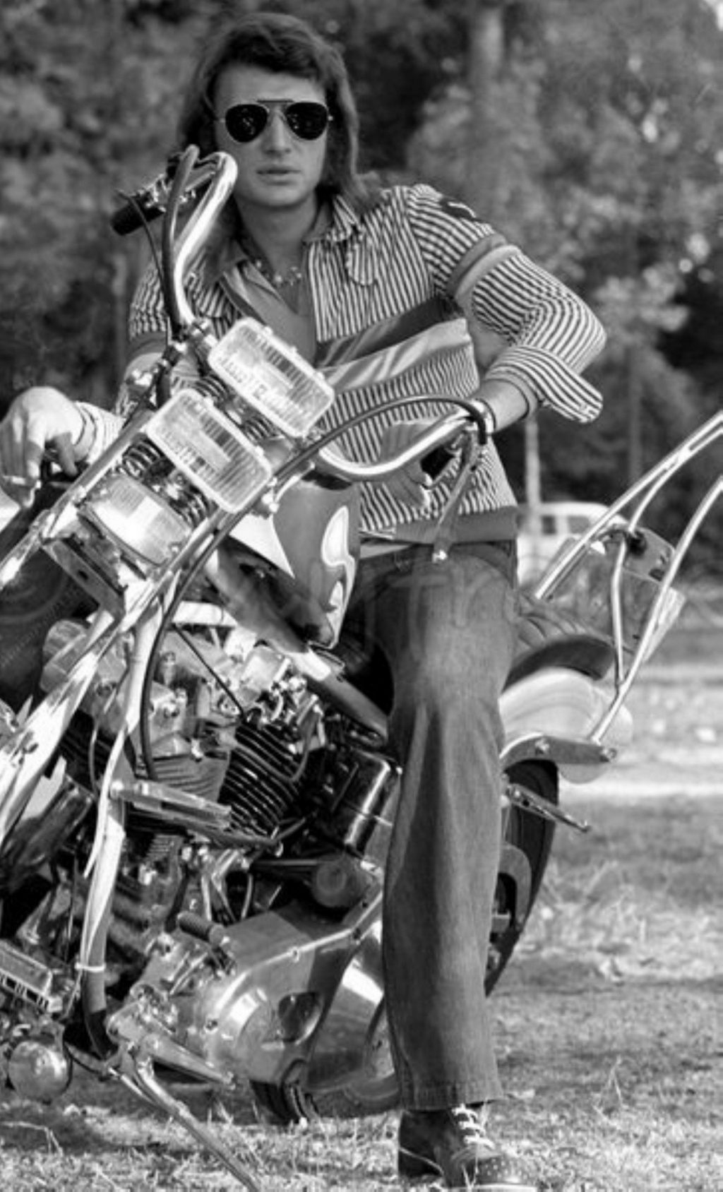 CHOPPER ( MOTEUR HARLEY SHOVELHEAD ) DE JOHNNY HALLYDAY ( 1971 ) Pict_m23