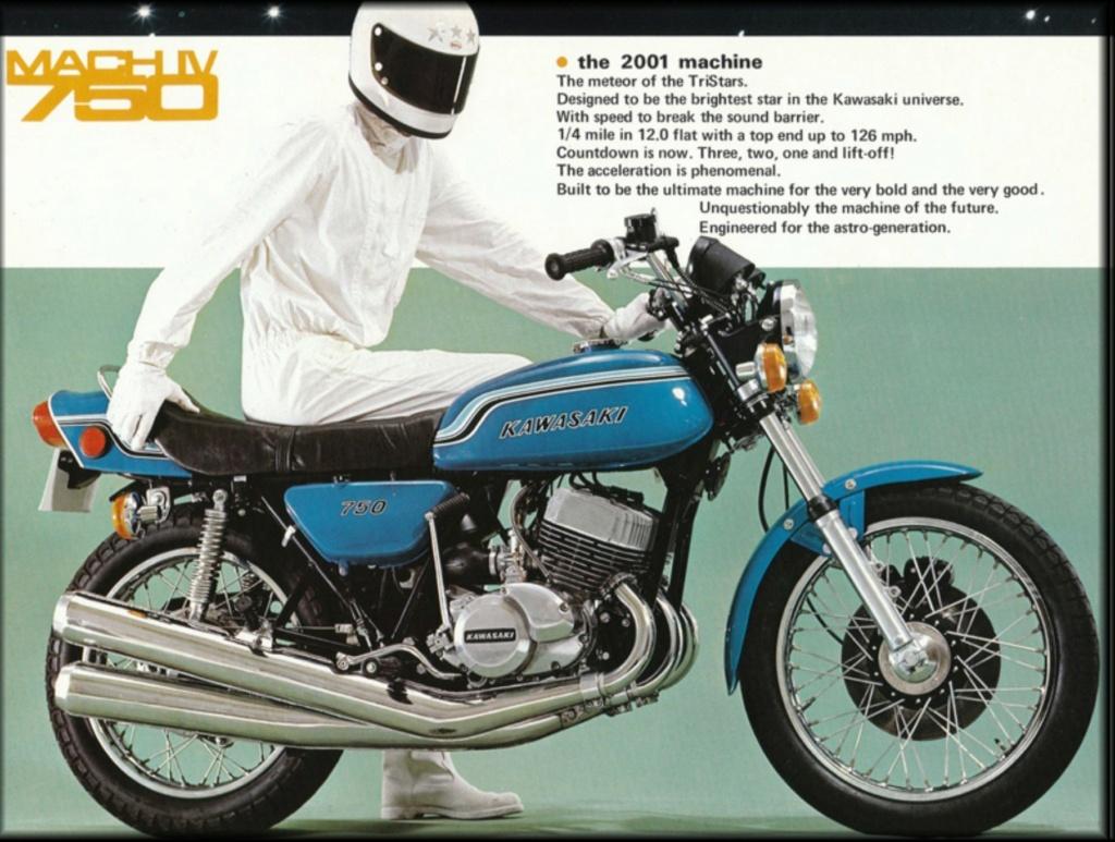 KAWASAKI 750 H2 MATCH IV DE JOHNNY HALLYDAY ( 1972 ) Proto110