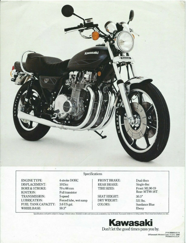 KAWASAKI KZ 1000 LTD DE JOHNNY HALLYDAY ( 1978 ) Qqo5hn12