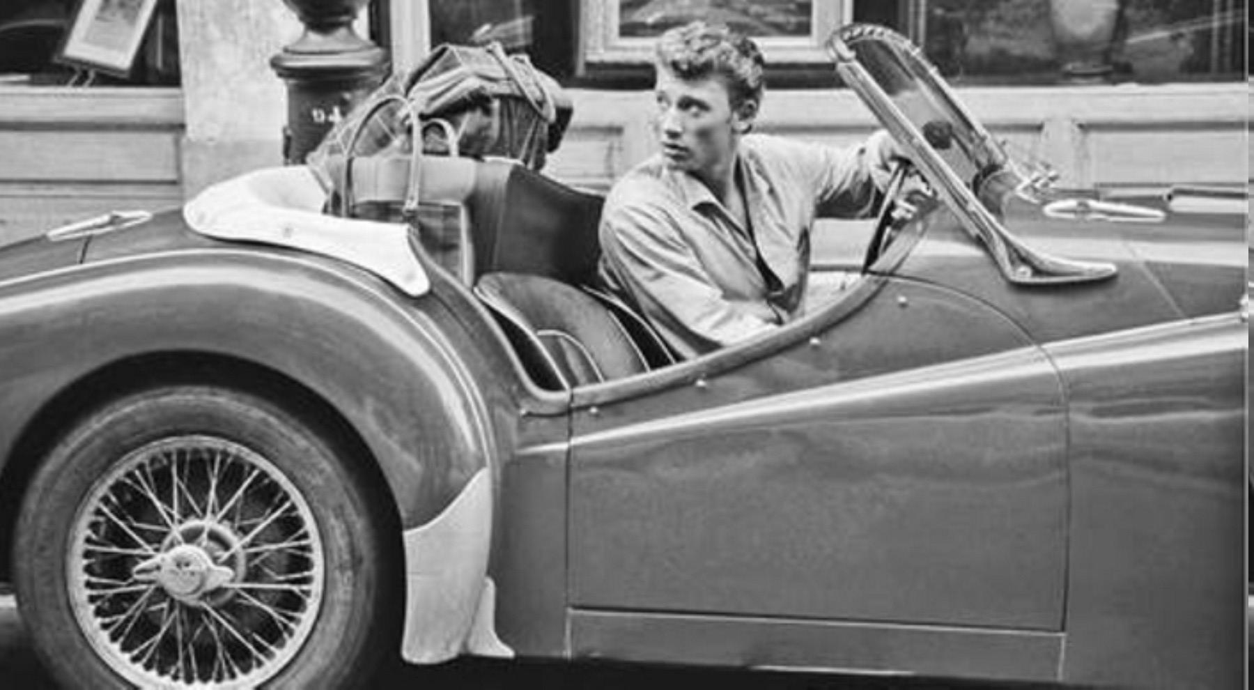 TRIUMPH TR3 DE JOHNNY HALLYDAY ( 1961 ) S1-joh11