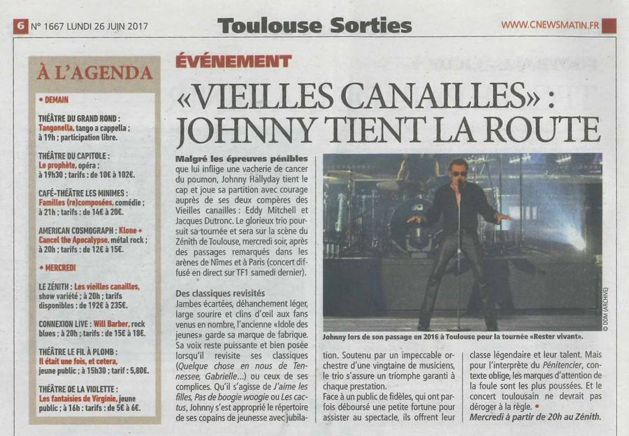 LES CONCERTS DE JOHNNY 'LES VIEILLES CANAILLES - 'TOULOUSE 2017' Sans1363