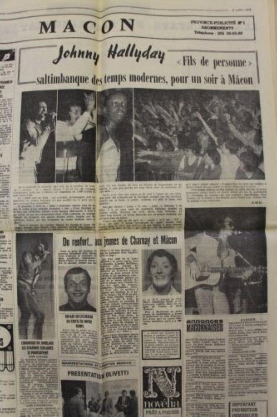 LES CONCERTS DE JOHNNY 'TOURNEE JOHNNY CIRCUS 1972' Sans1846