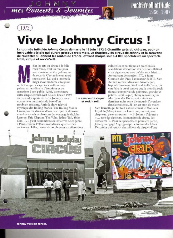 LES CONCERTS DE JOHNNY 'TOURNEE JOHNNY CIRCUS 1972' Sans1847