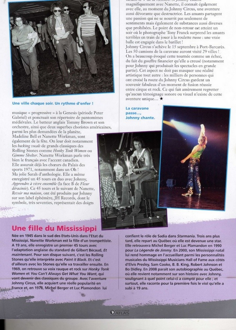 LES CONCERTS DE JOHNNY 'TOURNEE JOHNNY CIRCUS 1972' Sans1848