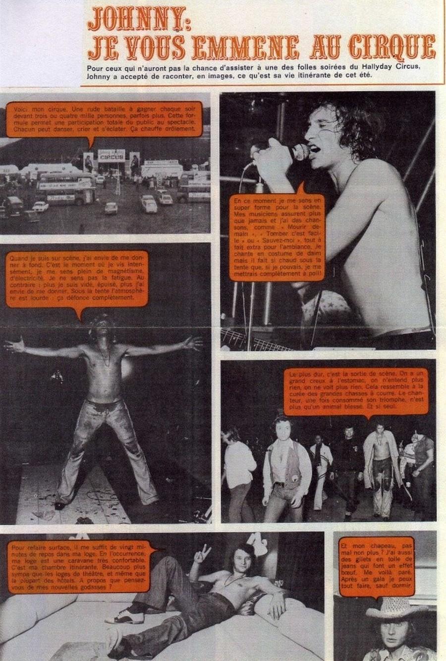 LES CONCERTS DE JOHNNY 'TOURNEE JOHNNY CIRCUS 1972' Sans1849