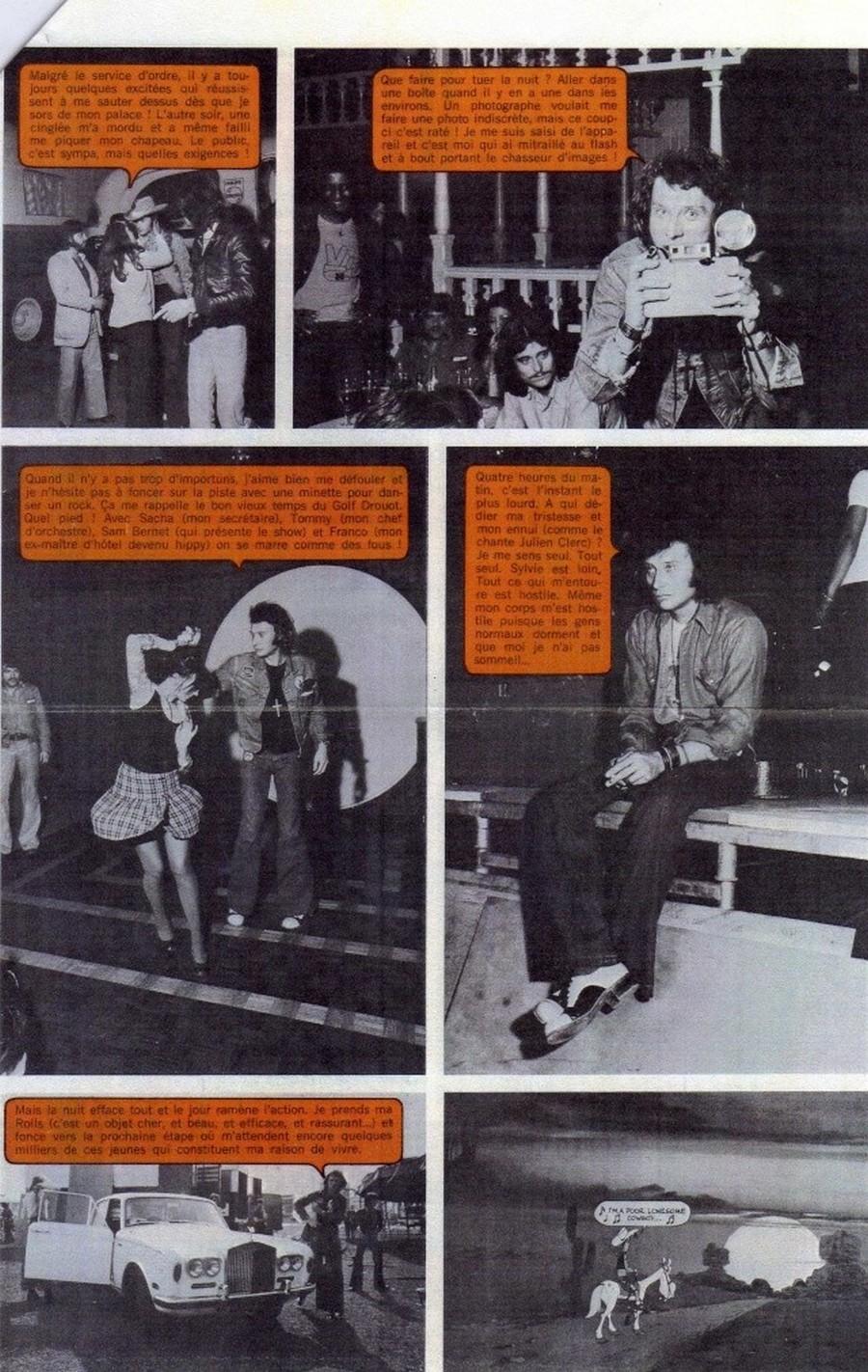 LES CONCERTS DE JOHNNY 'TOURNEE JOHNNY CIRCUS 1972' Sans1850