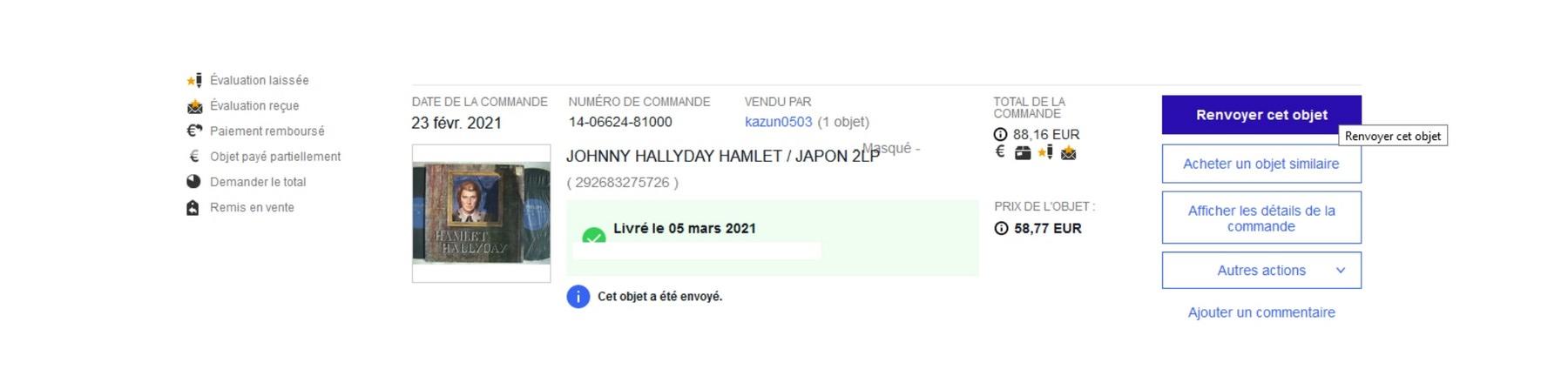 HAMLET HALLYDAY ( DOUBLE 33 TOURS )( JAPON )( 1976 ) Sans_269