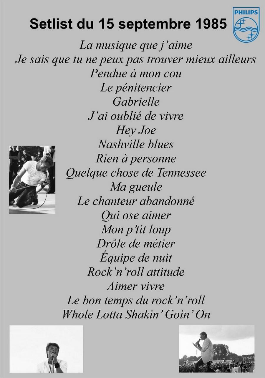 LES CONCERTS DE JOHNNY 'FETE DE L'HUMANITE, LA COURNEUVE 1985' Sans_409