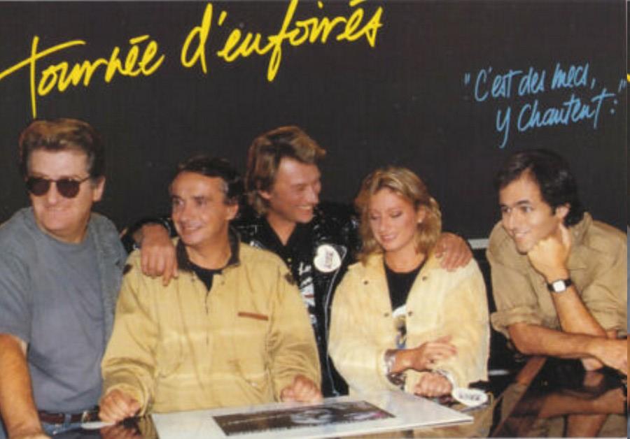 LES CONCERTS DE JOHNNY 'TOURNEE D'ENFOIRES, ZENITH 1989' Sans_410